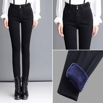 Thickening high waist size stretch thin tight pencil pants