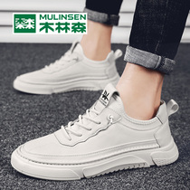 Wood Linsen mens shoes tide shoes spring 2020 new casual shoes Korean version of the trend of white shoes winter wild board shoes
