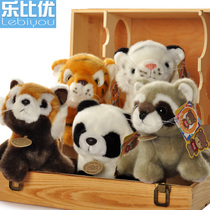 Le than excellent Q version of the simulation animal Brown Tiger White Tiger doll small raccoon red panda plush toy panda
