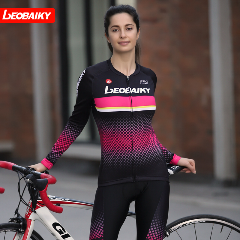LB2019 New Cycling Apparel Long Sleeve Suit Spring and Autumn Bicycle Apparel Long Sleeve Female Mountain Bicycle Apparel