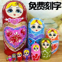 Authentic Russian features 10-storey set of baby Chinese wind creative shake gift wood imported 15 layers of toy clearance