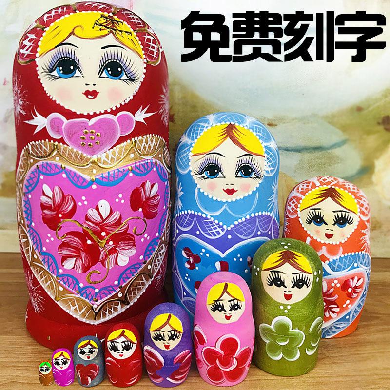 Russe dispose d'un ensemble de 10 étages de bois cadeau de vacances créatif vent chinois vendu un autre 15 étages de jouets déblayés