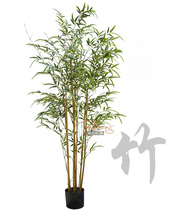 Simulated Bamboo leaf tree Model room Chinese Zen style garden landscape indoor landing green plant Zizhu potted plants