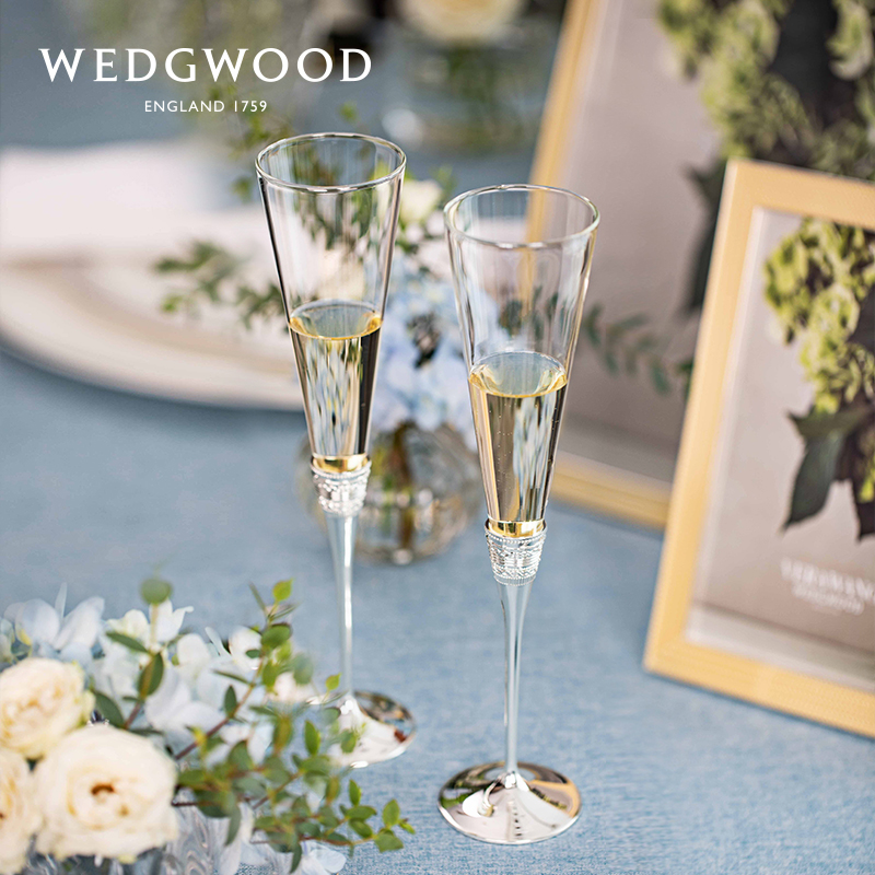 WEDGWOOD Wang Viv Vera Wang true love with a champagne glass red wine glass high-footed to the cup wedding gift