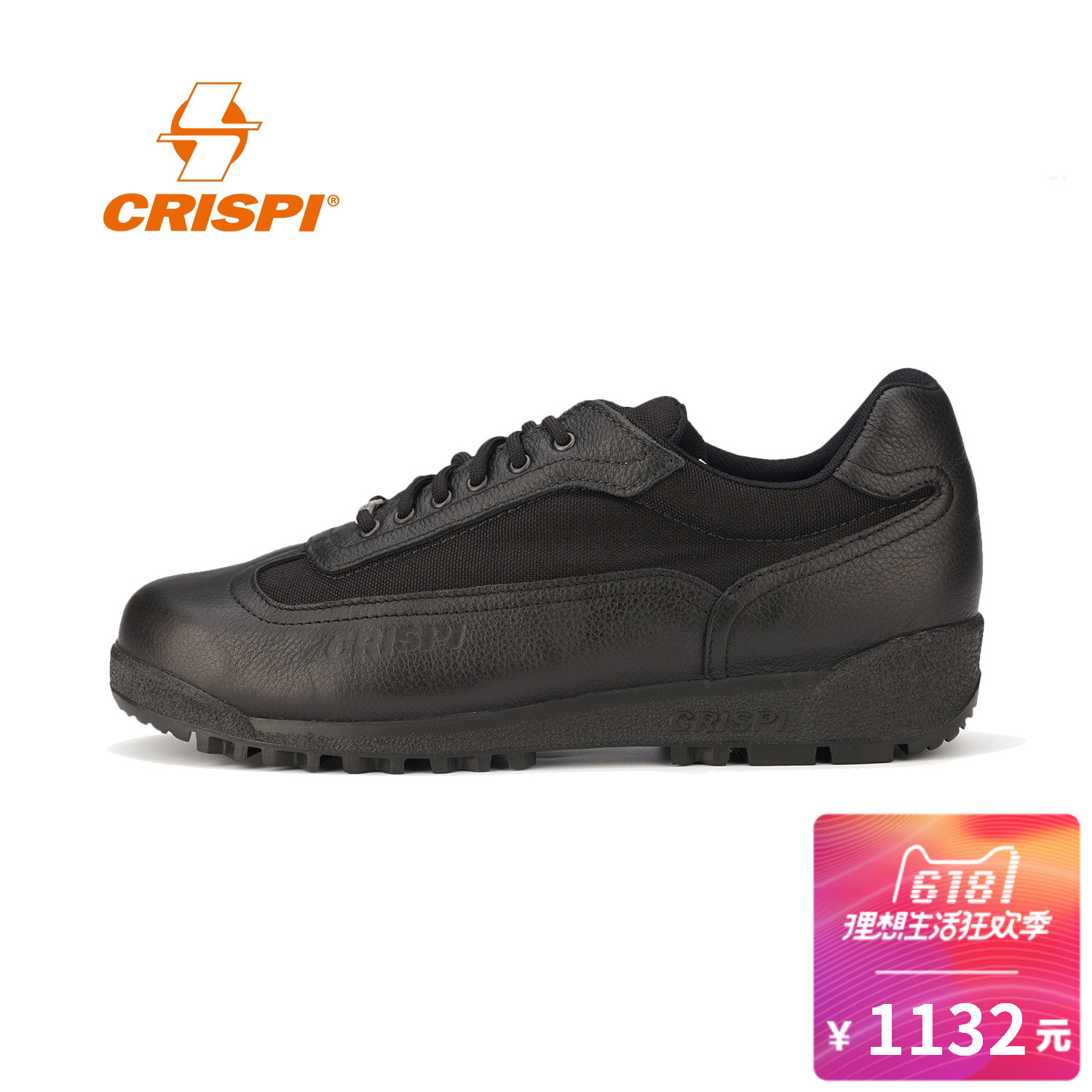 CRISPI shoes spring and summer men and women low walking hiking shoes multi-purpose shoes BLACK YORK3525699