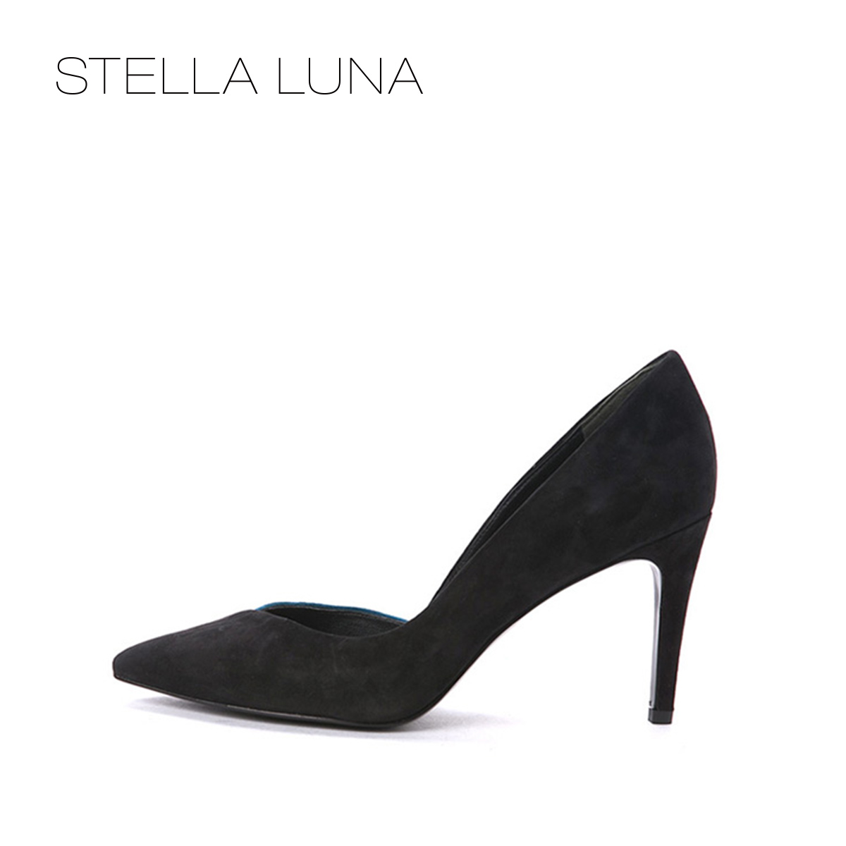 STELLA LUNA women's shoes autumn casual high-heeled shoes women's shallow mouth fashion shoes