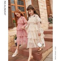 Girls dress 2020 new Spring Festival Spring Festival Childrens childrens children in the children puff princess skirt Western skirt
