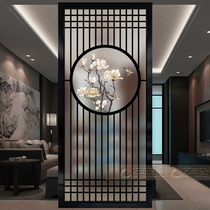 New Chinese modern minimalist screen partition living room entrance bathroom Matte Translucent double-sided entrance entrance Magpie
