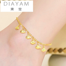 Gold jewelry 3D hard Gold Bell anklet beads small fish ring female Korean version sexy fashion girlfriend gift