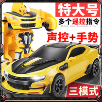 Gesture-sensing charging rc remote control car racing Transformers robot 5 children 6 boys 4 years old 3