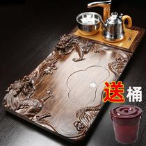 Yude complete set of kung fu tea set solid wood tea plate set home automatic induction cooker all-in-one tea table tea sea tea tray