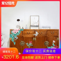 New Chinese camphor wood hand-painted foyer cabinet solid wood Xuan Guan shoe cabinet partition side cabinets assembled Large capacity lockers