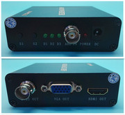 Packet AHD turn HDMI/VGA/video HD Video Converter.AHD to CVBSHDMIVGA