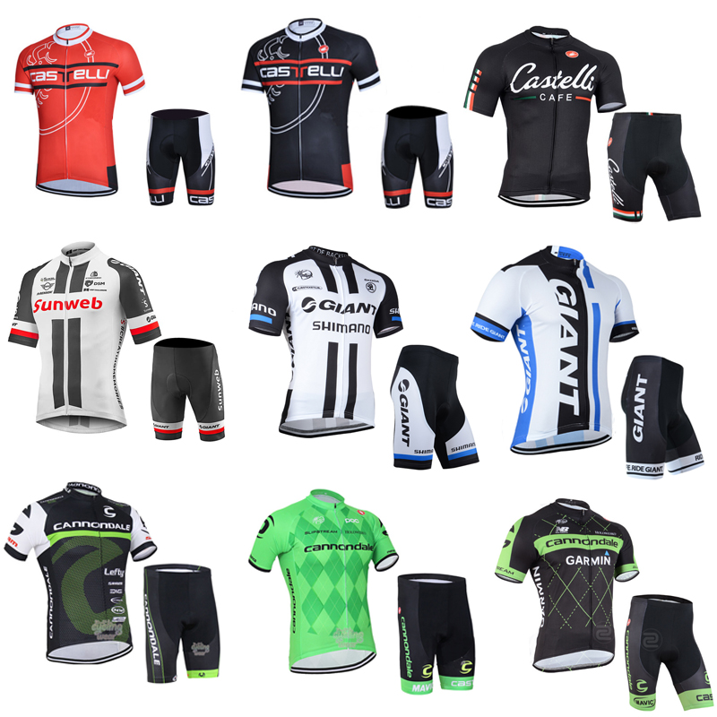 Summer Canon Short-sleeved Cycling Suit Men's Team Edition Mountain Bike Highway Vehicle Sweat Breathable Top Silicone Gel Pants