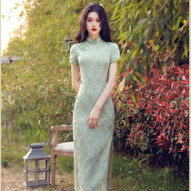 Improved cheongsam 2021 new national style summer elegant retro Chinese style young section daily dress female