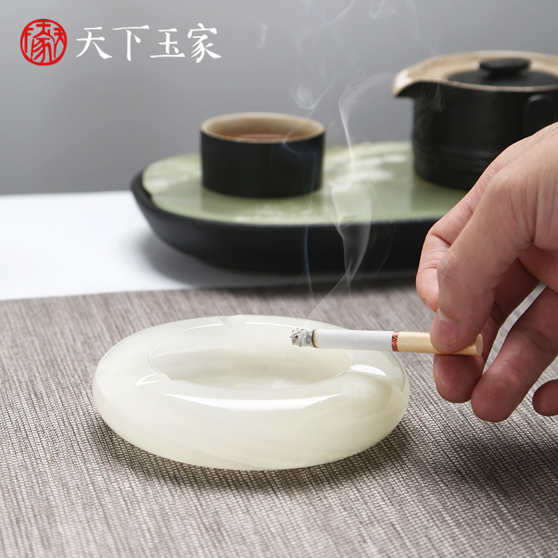 Creative Individual Gift of Jade Ashtray in World Yujia