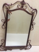Creative Wrought Iron Framed Bathroom Mirror Wall Mirrors Cosmetic Makeup