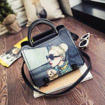 ladies bag 2016 new handbag business handbag Messenger bag OL commuter Women bag 2016 autumn and winter new fashion simple shell bag ladies handbag female shoulder Messenger Bag Bear