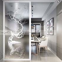 Personnalisé moderne minimaliste art cloison en verre salon écran porte entrée fond mur Mat trempé translucide
