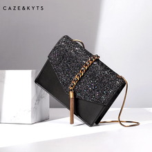 CAZE & KYTS tassel package CK2-20160030 new chain one shoulder oblique span envelope package small CK lady bag