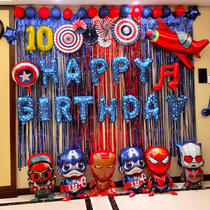 Boys birthday balloon decoration scenes feature happy theme items for boys and childrens parties