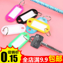 Raw Material key brand plastic number tag listed hotel Sauna label classification card can mark key buckle