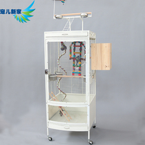 Acrylic Large parrot Bird Cage Parrot Station frame metal large breeding cage Grey parrot Sunflower B12