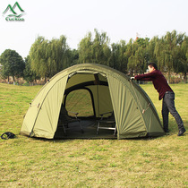 Domain inflatable camp outdoor tent thick field camping rain-proof double climbing tent wind-proof beach wind-proof