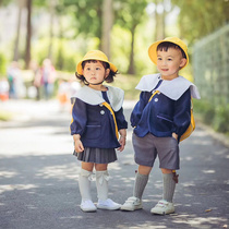 Japanese Kindergarten school uniform autumn Elementary School students class uniform autumn and winter set college garden suit children woolen coat