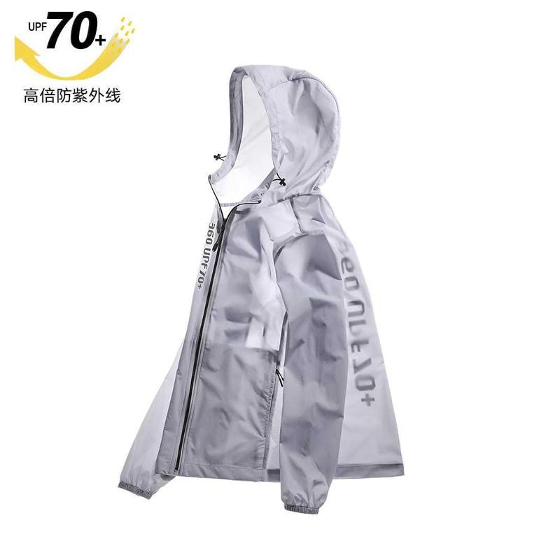 UPF70 professional sun protection mens summer thin anti-UV ice silk ultra-thin breathable fishing skin clothes