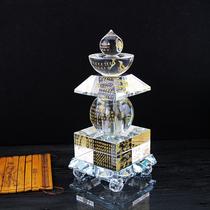 Cachette de boucle de cuivre scellée de secret patriarcal bouddhiste fournit cristal Bouddha pagode trésor indoroni par transparent Shelita