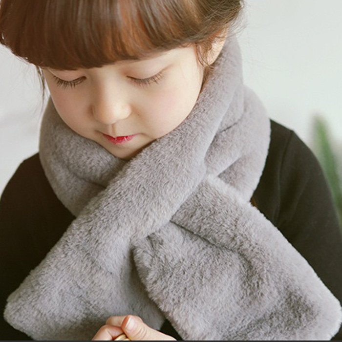 Korean version of the child kid baby infant imitation rabbit hair scarf