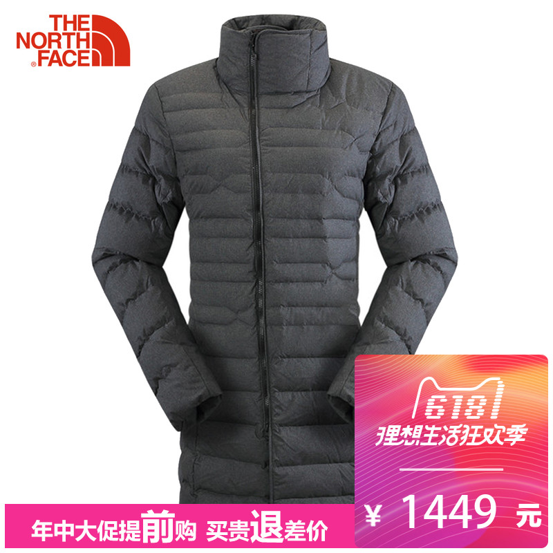 The NorthFace North Down Coat 2UEZ Mid-long Thickened Warm Outdoor Casual Clothes for Women in Autumn and Winter