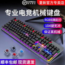 Xia Xin really mechanical keyboard electronic competition game blue axis black axis black axis tea axis USB external notebook computer cable network curry mouse set to eat chicken office-specific typing silent