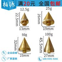 Brass line pendant pendant hanging wire pendant copper hammer 200g 12.5 g 25 g 50 g 100 g 500