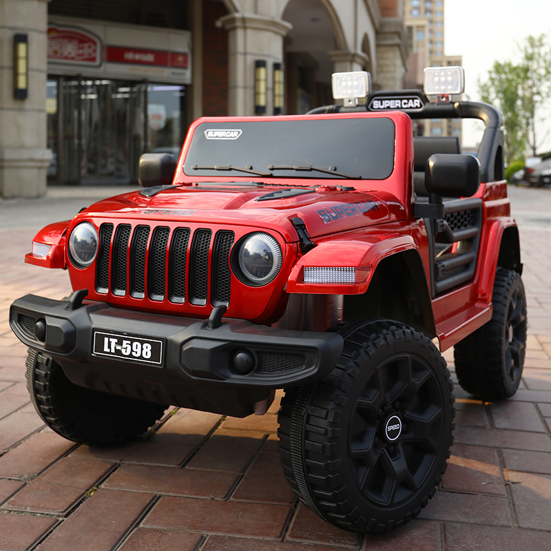 Baby and child electric car four-wheeled children can do double large off-road vehicle boys and girls with remote control toy car