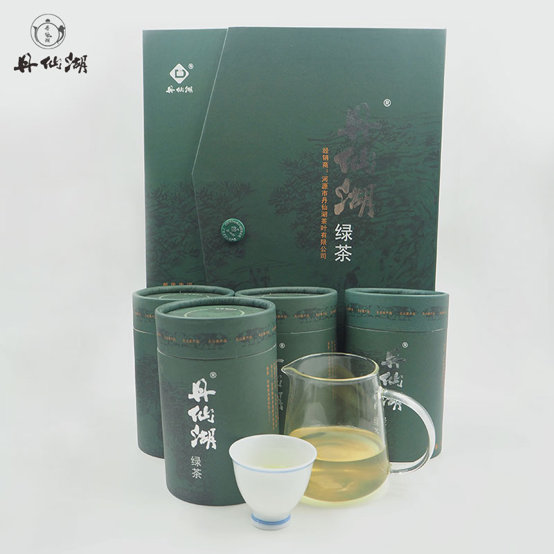 Danxian Lake gift box and canned Xianhu Green Tea 500g Alpine Yunwu Hakka Ancient Tree High Fire Fried Green Tea