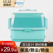 Baby Bottle Storage Box portable large baby with cover tableware supplies storage box leachate dust drying rack