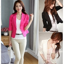 2017 new spring suit women summer professional slim thin OL Korean version of seven small sleeve Blazer