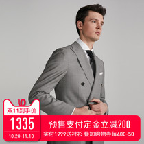 Full Monty Wool double breasted mens fashion suit