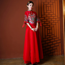 Chinese style of the same style of summer wedding dress