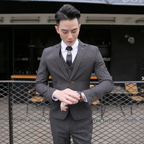 Mens Four Seasons Korean slim suit suit