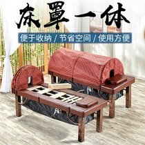 Moxibustion bed household fumigation bed body massage treatment bed steam Bed beauty salon lifting Smoke moxibustion bed