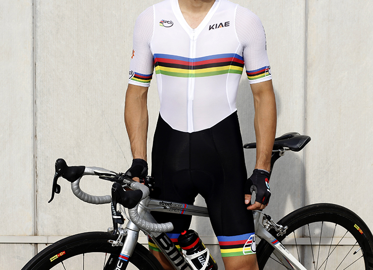 KIAE New Champion Rainbow Short Sleeve Cycling Clothes Imported from Italy for Summer Highway Cycling