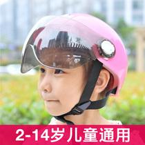 Childrens electric car helmet Male and female children child baby helmet Summer breathable four seasons universal battery car full helmet