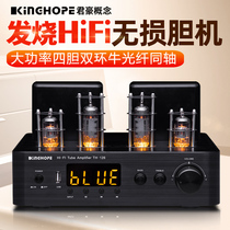 KINGHOPE TH-126 fever double Fire cattle high power tube HiFi gall machine Bluetooth amplifier home