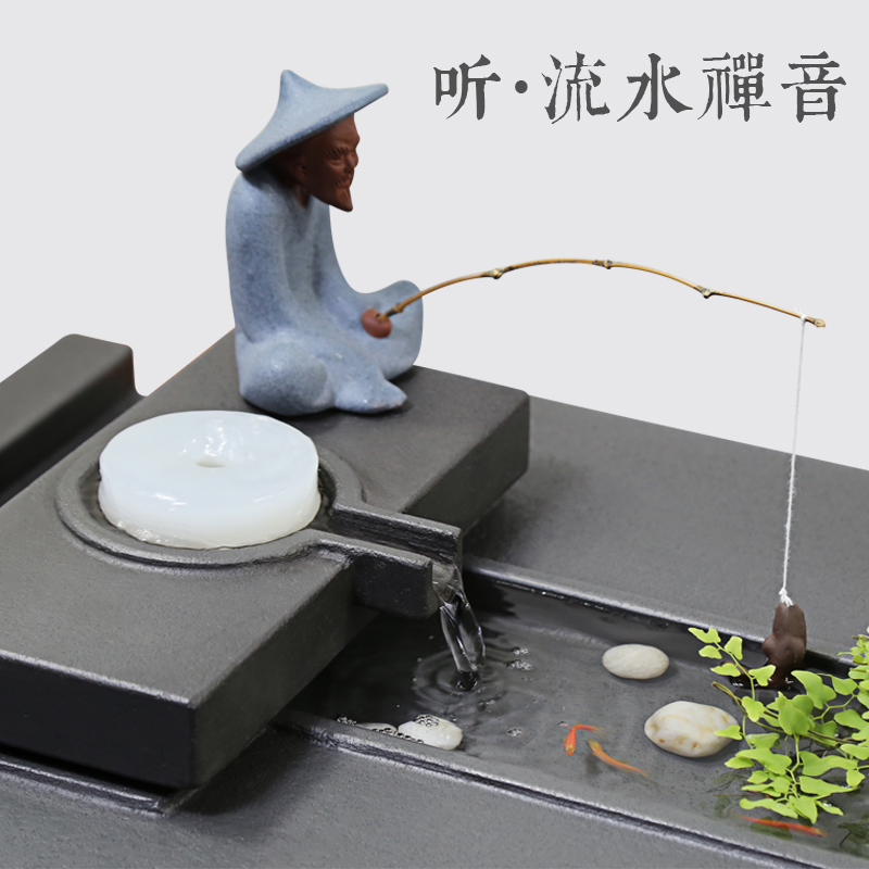 Wujin stone tea plate set fully automatic all-in-one household simple natural whole stone kung fu tea set tea table large