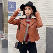 MS all-match imports of New Zealand sheep skin leather jacket detachable really Plush four into the sea
