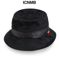 ICNMB American tide brand hat men s and women s Spring   Summer black dark  pattern basin cap strolling out sunshade Fisherman s cap e88b10adecd