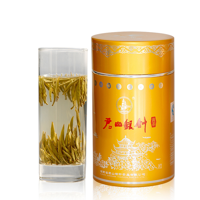2018 Ming New Tea Buds Junshan Silver Tea Junshan Yellow Tea Spring Tea Yellow Bud Tea 125g Canned